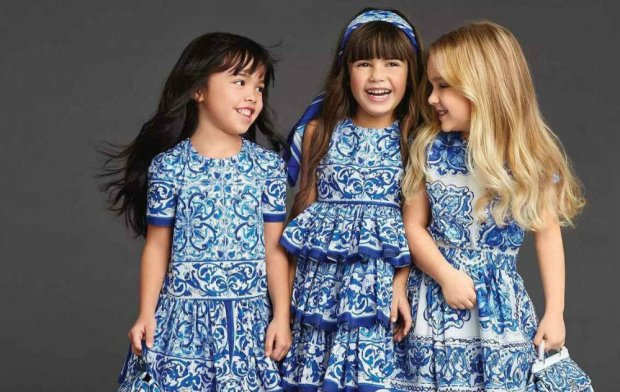 Kids-fashion-trends-and-tendencies-2016-Short-Sleeve-Blue-Floral-Vintage