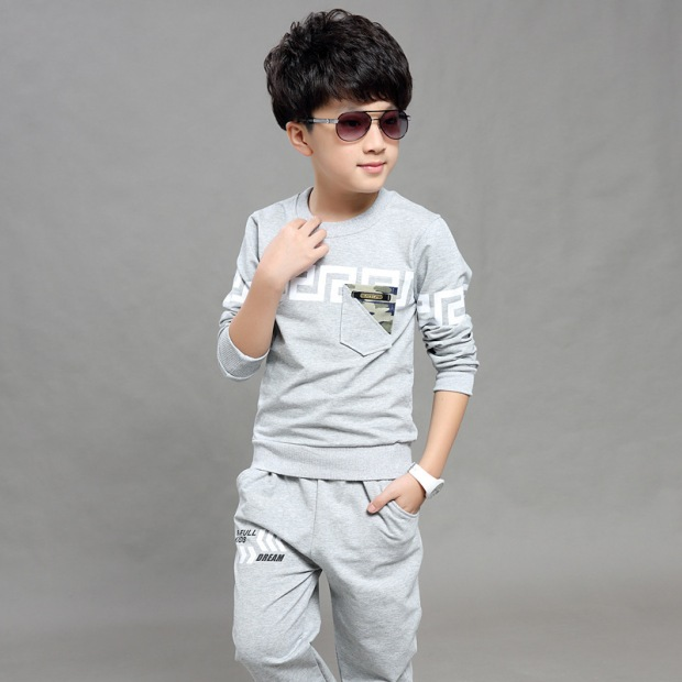 Kids-Korean-autumn-winter-casual-sportswear-suit-boys-cotton-Sweatshirts-set-children-Holiday-party-clothes-sets